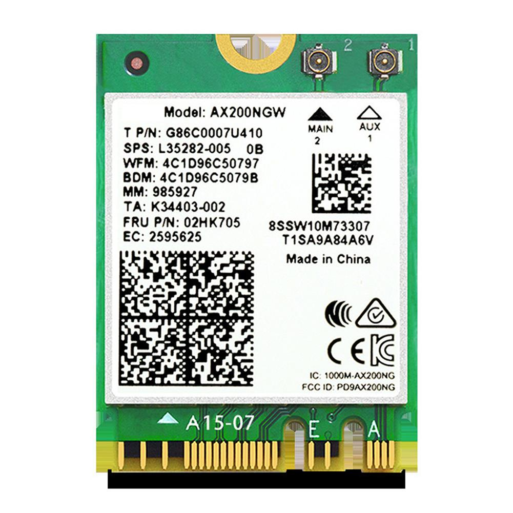 network-cards Acasis AX200 Dual Band WiFi6 Wireless Network Card NGFF M.2 buletooth 5.0 Built in Gigabit WiFi Adapter for Laptop Desktop Computer HOB1736489 1