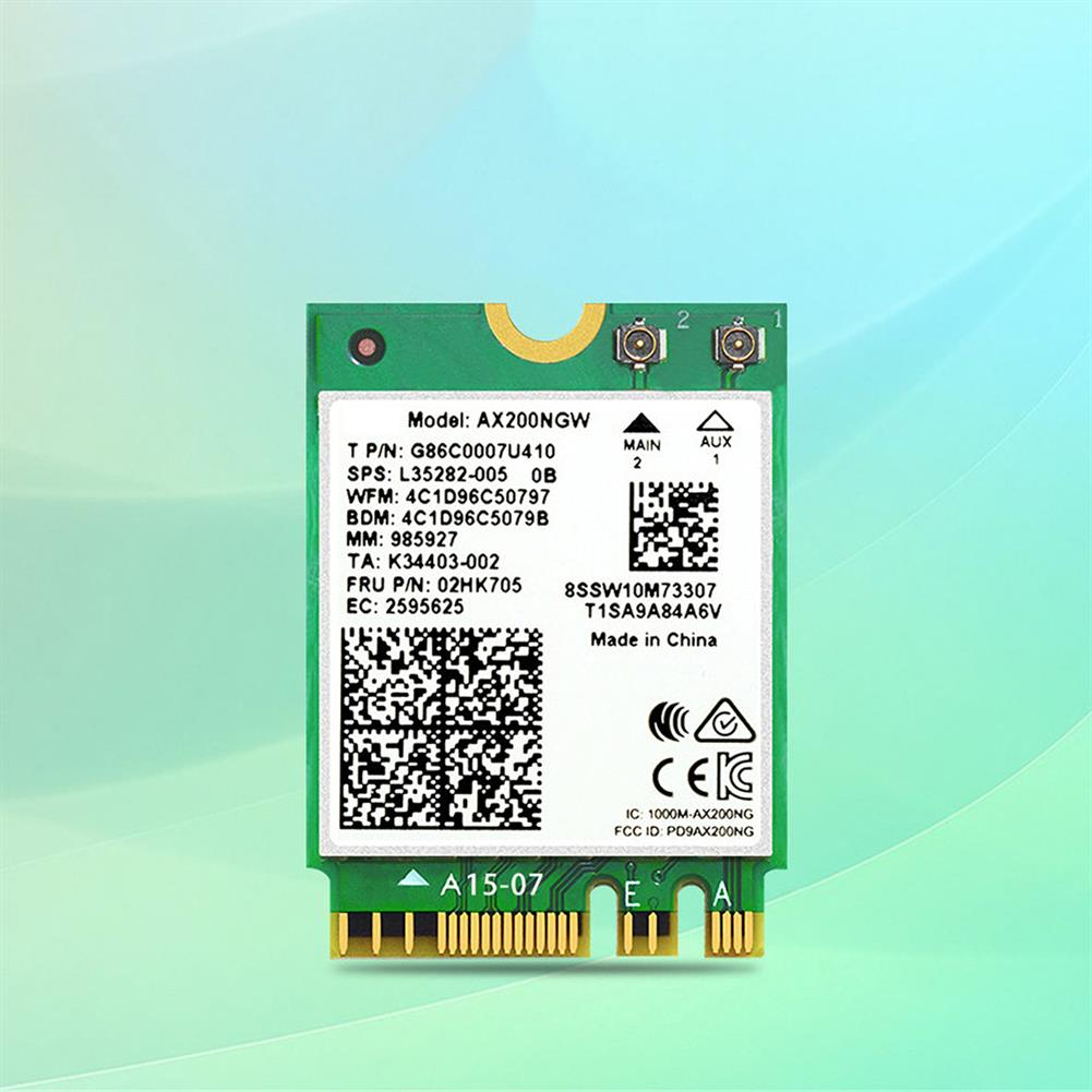 network-cards Acasis AX200 Dual Band WiFi6 Wireless Network Card NGFF M.2 buletooth 5.0 Built in Gigabit WiFi Adapter for Laptop Desktop Computer HOB1736489 1 1