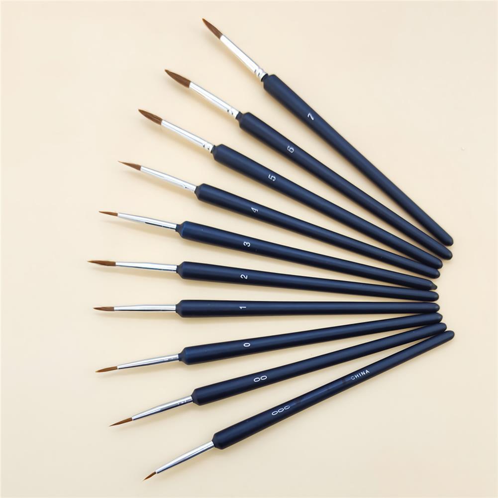 brush 10pcs/set Hook Line Pen Paint Brushes Watercolor Brushes Hair Pen Gouache Acrylic Oil Painting for Painting Beginner Supplies HOB1736611 1