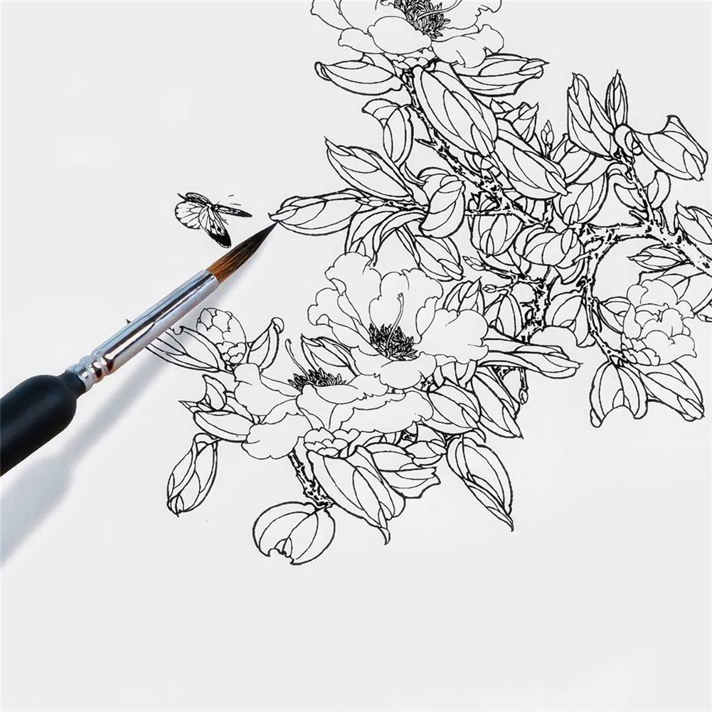 brush 10pcs/set Hook Line Pen Paint Brushes Watercolor Brushes Hair Pen Gouache Acrylic Oil Painting for Painting Beginner Supplies HOB1736611 3 1