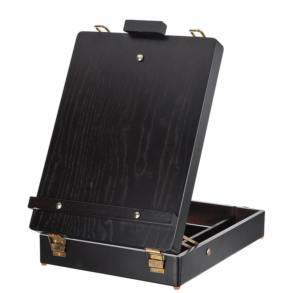 artboard-easel Wooden Oil Painting Box Drawing Board Case Black Beech Wood Easel Desktop Multifunctional Art Painting Easel HOB1736665 1 1