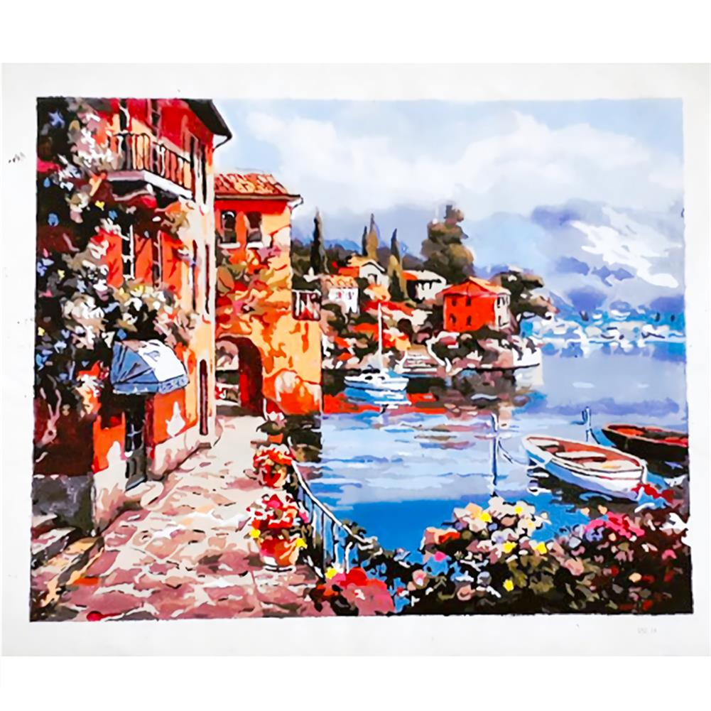 art-kit Frameless DIY Paint By Numbers Harbor Oil Painting 40*50cm Landscape Canvas Painting Home Decor for Living Room Wall Artwork HOB1737023 1 1