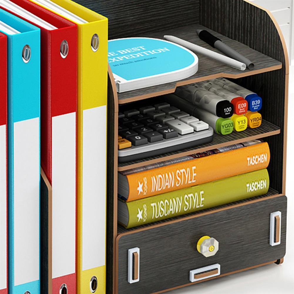 desktop-off-surface-shelves Multi-function Desktop Organizer office Storage Rack Adjustable Wood Display Shelf Tissue Holder Natural Stand Shelf Bedroom Supplies HOB1737359 3 1