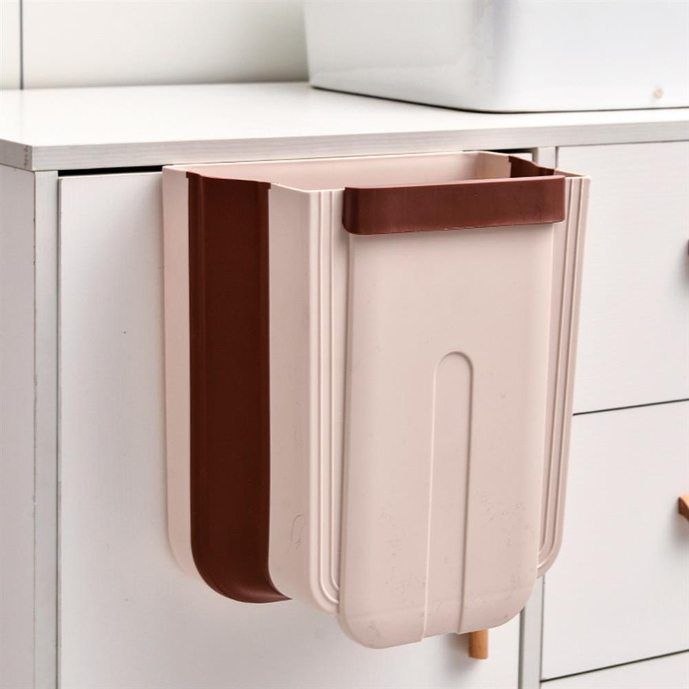 desktop-off-surface-shelves Kitchen Cabinet Door Hanging Trash Portable Garbage Bin Container Waste Bins Cupboard Bathroom Hanging Holders Trash HOB1737412 3 1