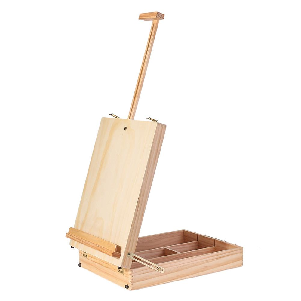 artboard-easel Multifunctional Oil Painting Box Pine Wood Portable Easel Toolbox Acrylic Paint Painting Box Childrens Painting Set Art Supplies HOB1737497 1