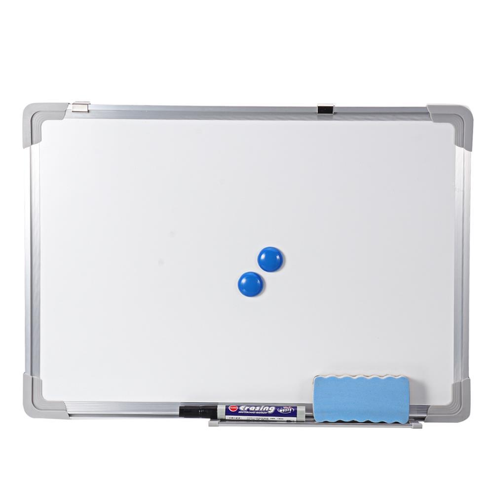 white-wipe-board Magnetic Whiteboard Hanging Erase Message Board Double Side Magnet Board Whiteboard Bulletin Drawing Pad for School office HOB1737565 1