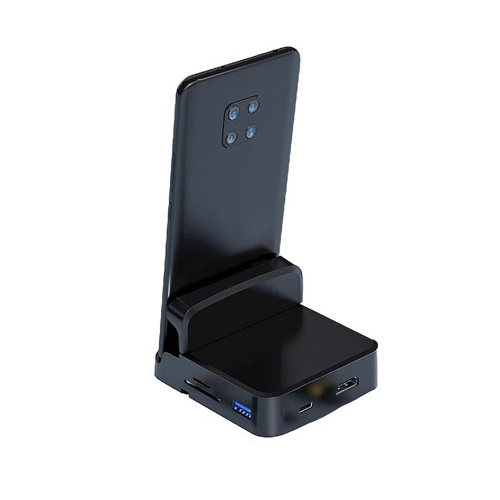 tablet-stands Biaze R42 Type-C Mobile Phone Dock to USB HD Memory Card Display Splitter office Base for Huawei Glory Android Phones HOB1737695 1
