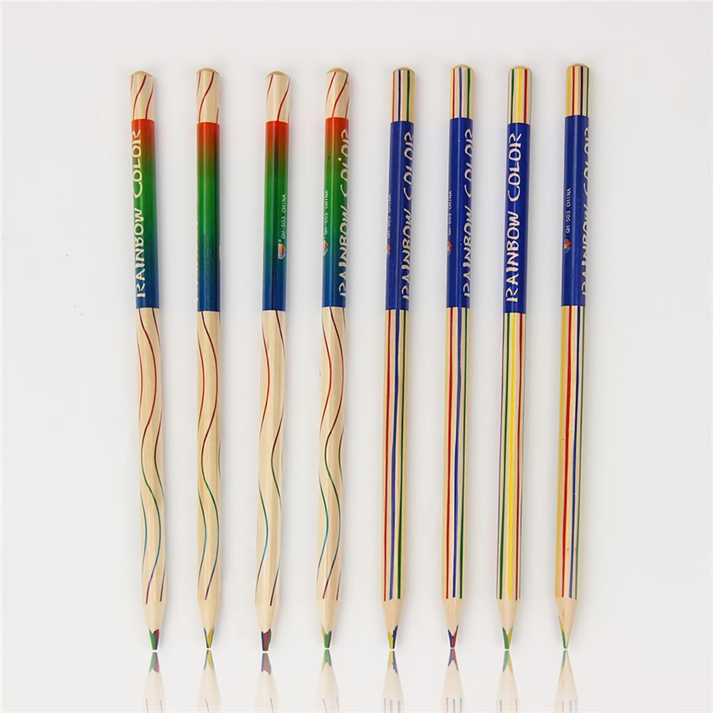pencil 10pcs/set Rainbow Pencil Set Color Painting Pencil for Kid Graffiti Drawing Material Escolar office School Supplies HOB1738349 1