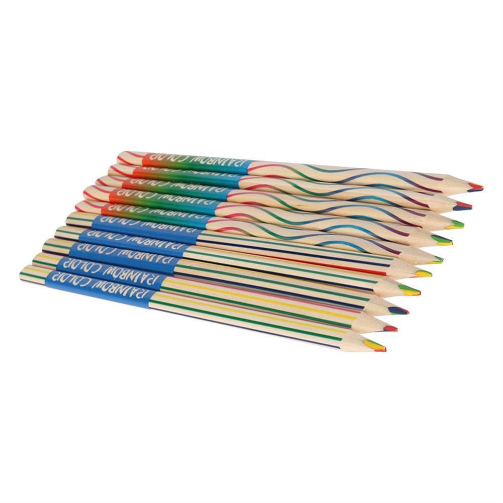pencil 10pcs/set Rainbow Pencil Set Color Painting Pencil for Kid Graffiti Drawing Material Escolar office School Supplies HOB1738349 2 1