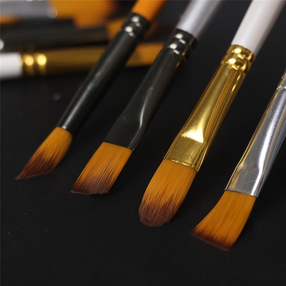 brush Giorgione 5pcs/set Painting Brush Set Gouache Paint Different Shape Nylon Oil Watercolor Brush Set Stationery Art Supplies HOB1738472 1 1