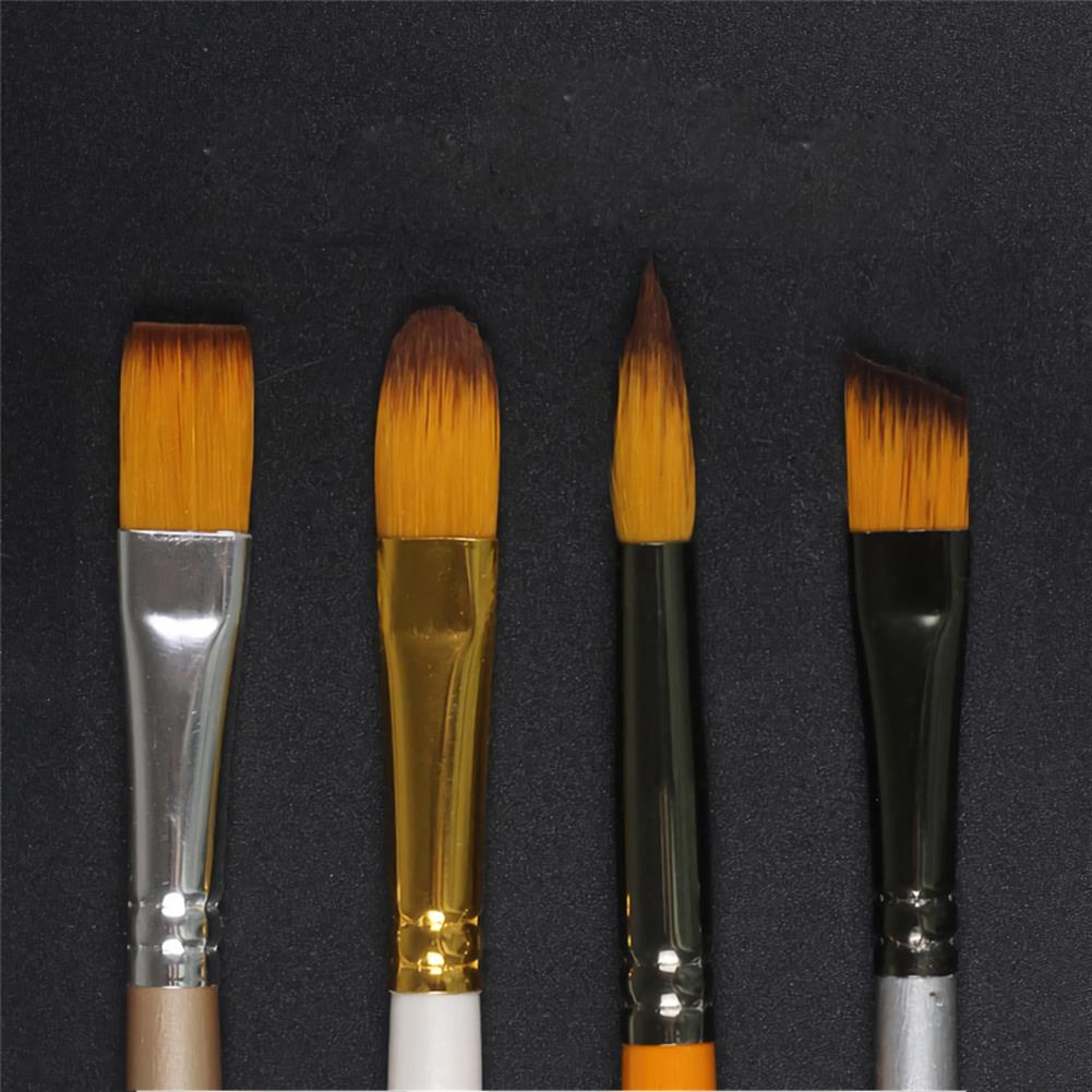 brush Giorgione 5pcs/set Painting Brush Set Gouache Paint Different Shape Nylon Oil Watercolor Brush Set Stationery Art Supplies HOB1738472 2 1