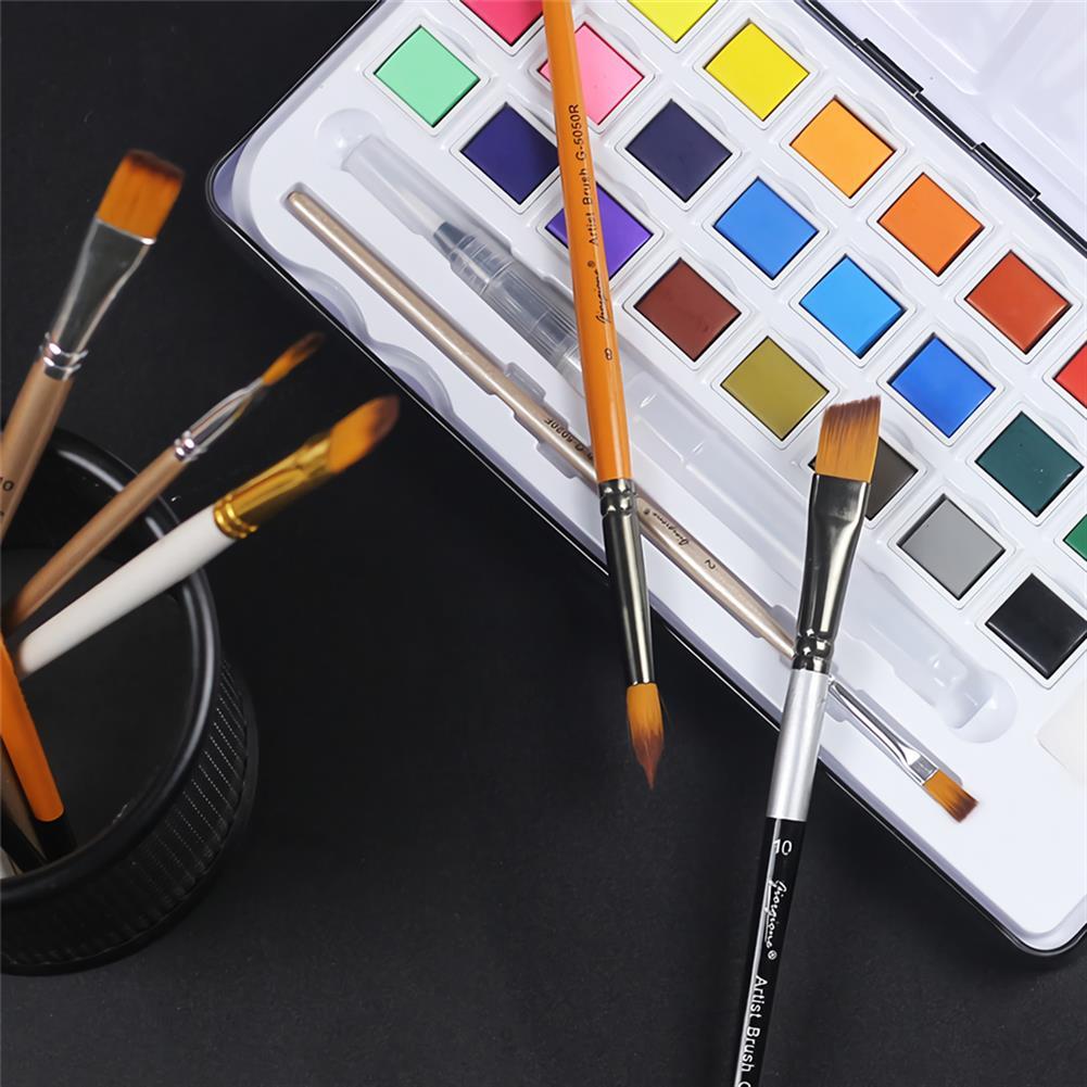 brush Giorgione 5pcs/set Painting Brush Set Gouache Paint Different Shape Nylon Oil Watercolor Brush Set Stationery Art Supplies HOB1738472 3 1