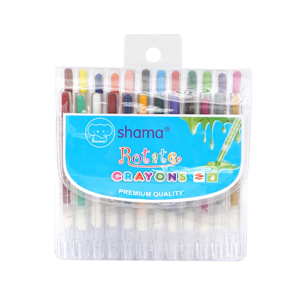 art-kit 24 Colors Silky Oil Pastel Stick Rotary Crayon Children Painting Graffiti Pens Art office Stationery Painting Supplies HOB1738943 3 1