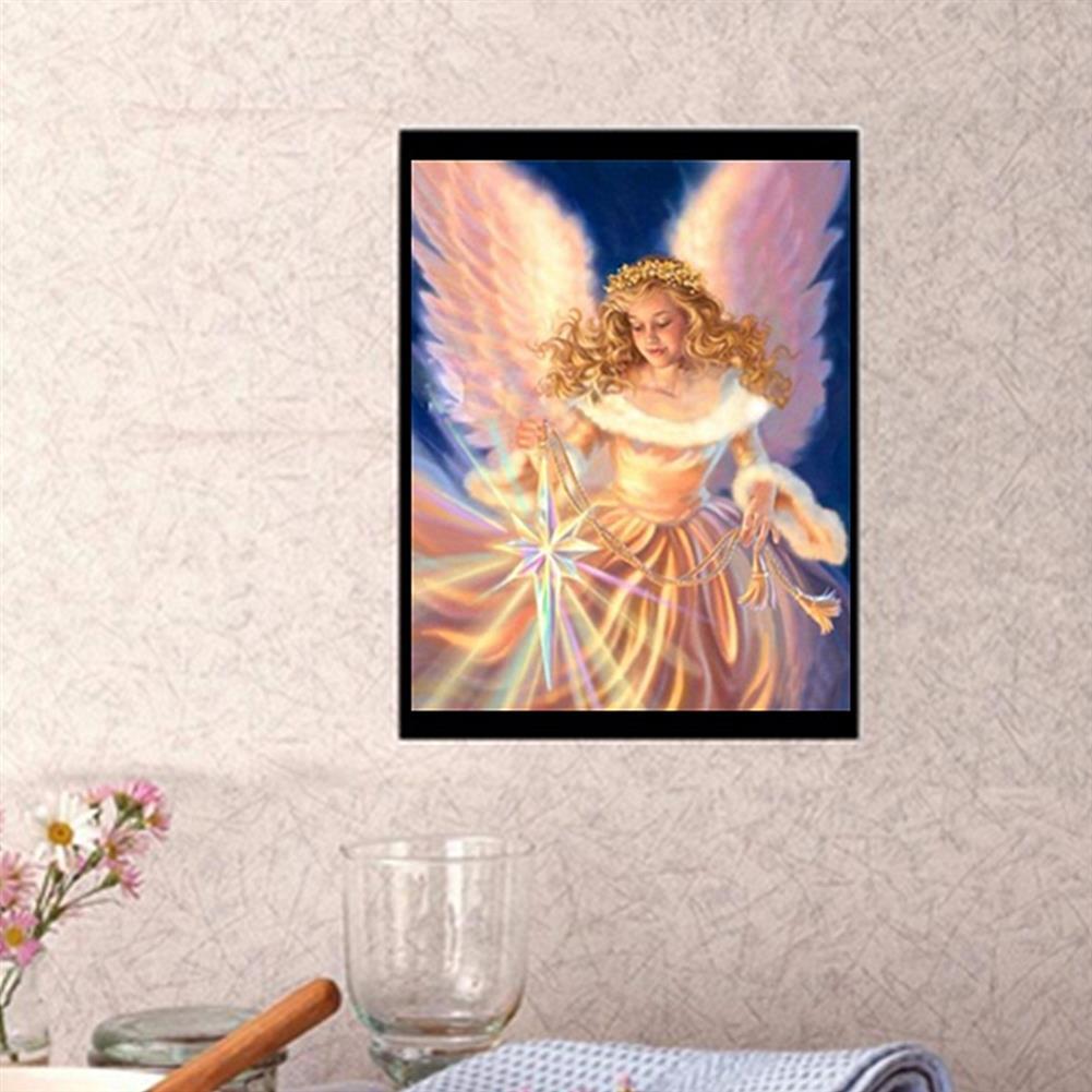 art-kit DIY 5D Diamond Painting Angel Girl Handmade Craft Cross Stitch Embroidery Flower Pink Clouds Home Wall Decoration HOB1739943 1 1