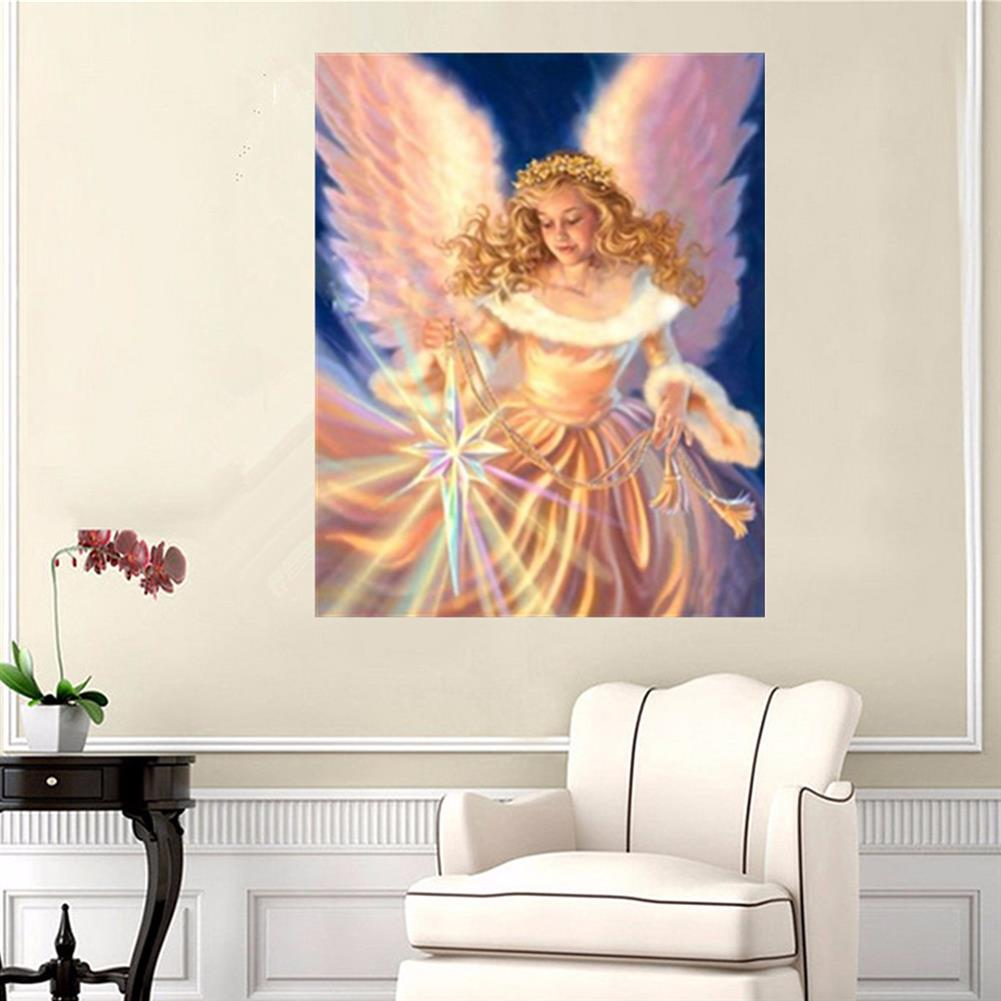 art-kit DIY 5D Diamond Painting Angel Girl Handmade Craft Cross Stitch Embroidery Flower Pink Clouds Home Wall Decoration HOB1739943 2 1