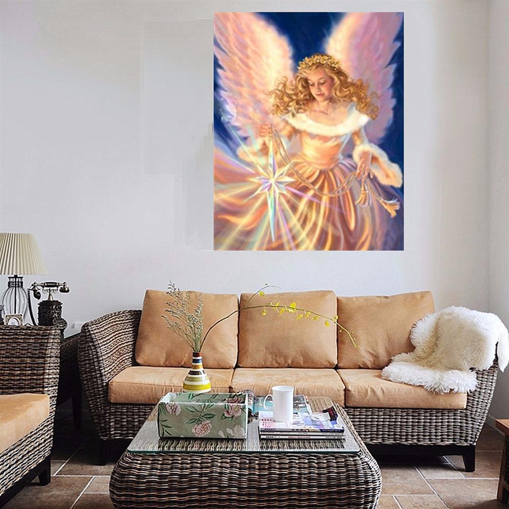 art-kit DIY 5D Diamond Painting Angel Girl Handmade Craft Cross Stitch Embroidery Flower Pink Clouds Home Wall Decoration HOB1739943 3 1