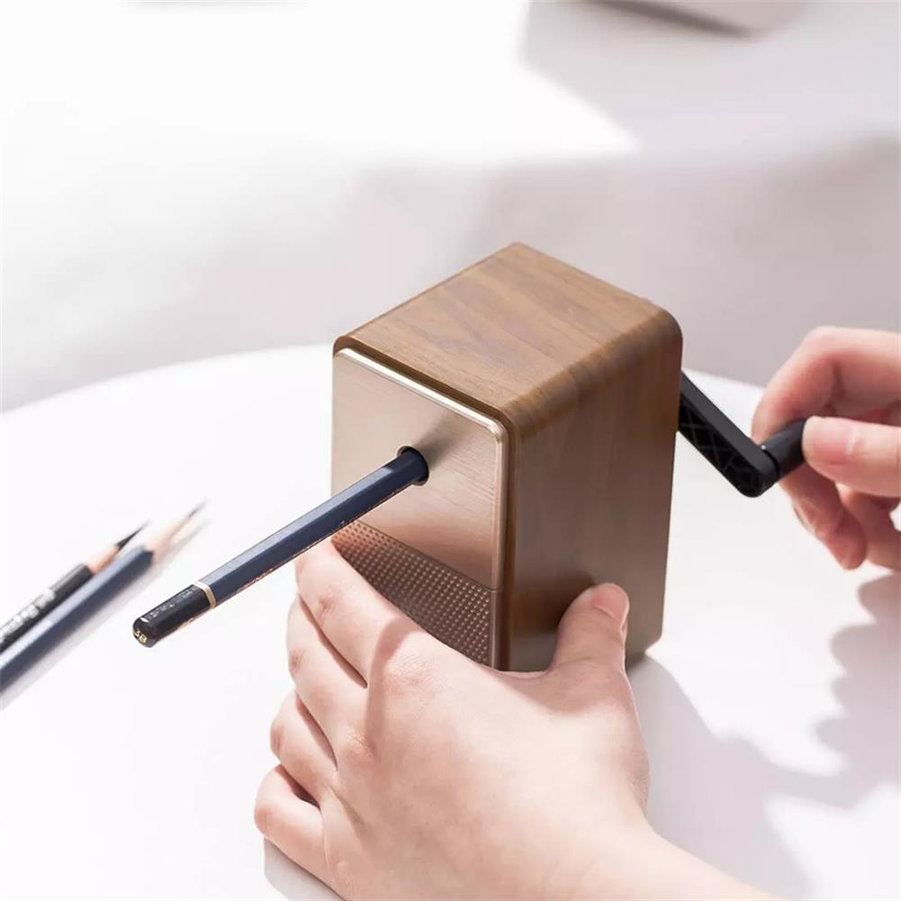 pencil-sharpener [From XM ] Deli 71160 Pencil Sharpening Retro Manual Black Brown 5 Gear Pencil Sharpener Stationery Items Business office Gifts Supplies HOB1739968 3 1