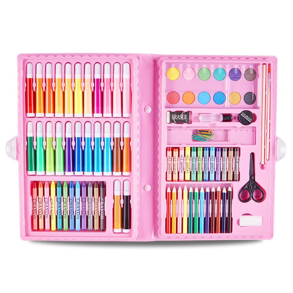 art-kit 90Pcs Painting Art Set Kids Painting Tool Drawing Graffiti Toys Watercolor Pens Oil Pastel Children Gifts HOB1739998 1