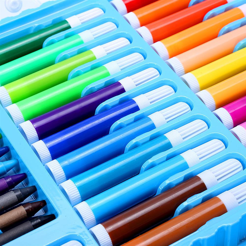 art-kit 90Pcs Painting Art Set Kids Painting Tool Drawing Graffiti Toys Watercolor Pens Oil Pastel Children Gifts HOB1739998 1 1