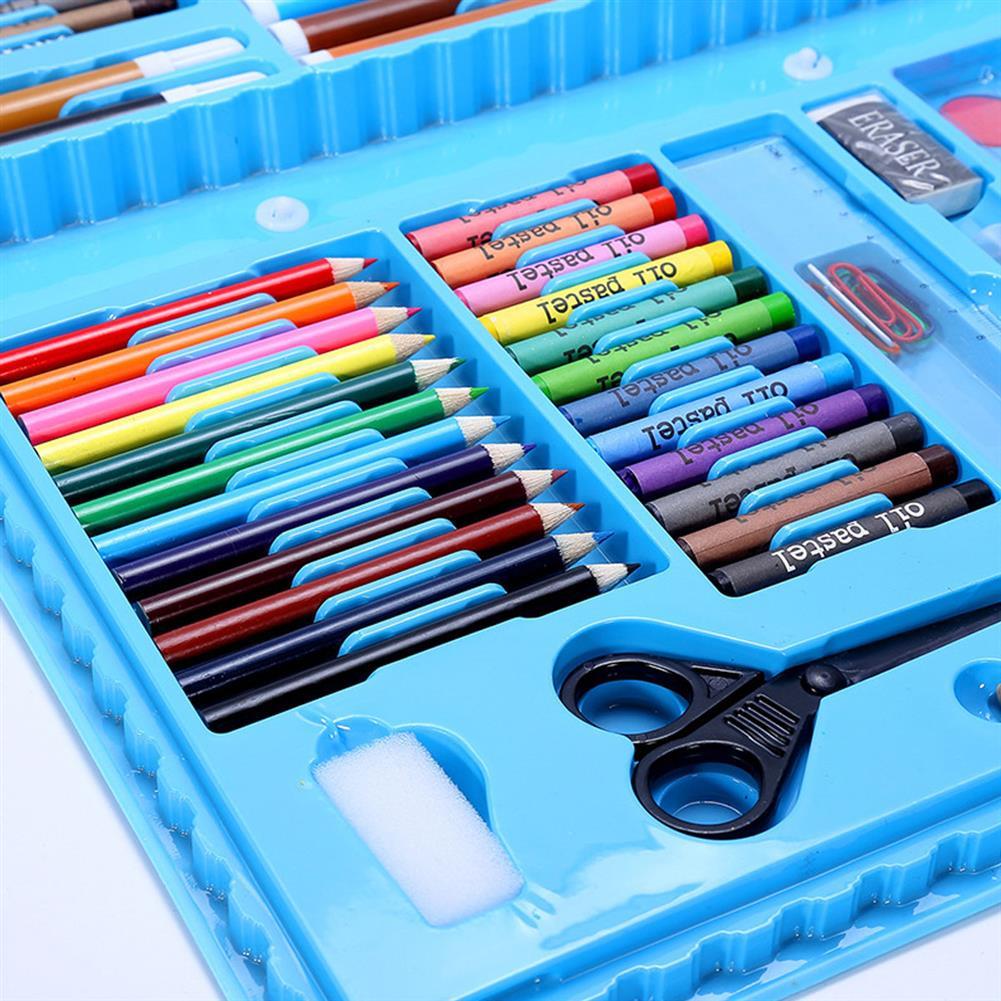 art-kit 90Pcs Painting Art Set Kids Painting Tool Drawing Graffiti Toys Watercolor Pens Oil Pastel Children Gifts HOB1739998 2 1