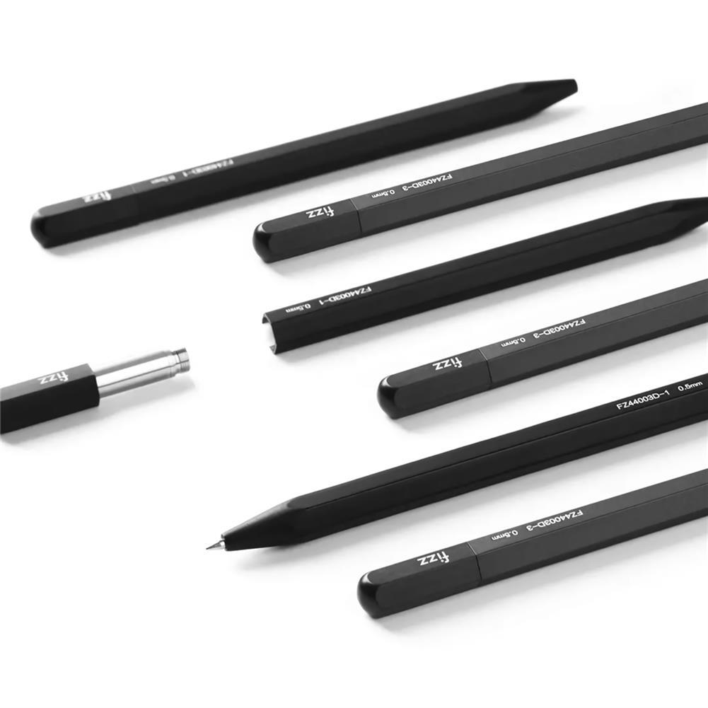 gel-pen Fizz 0.5mm Multi Edge Metal Gel Pen Black Writing Gel Pen Stationery School Students Exam Business office Writing Supplies HOB1740113 3 1