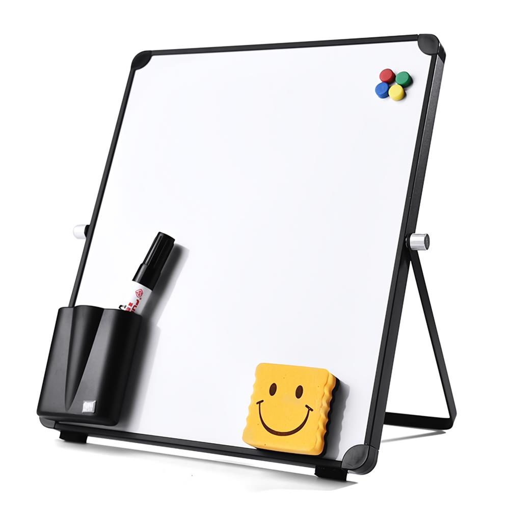 white-wipe-board White Wipe Board Single Sided Portable Small Whiteboard Planner Reminder with Stand School Home office Kids List Board Supplies HOB1740168 1