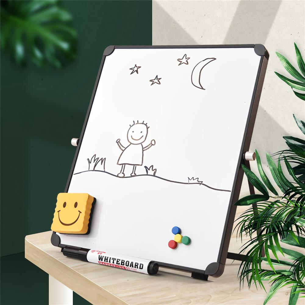 white-wipe-board White Wipe Board Single Sided Portable Small Whiteboard Planner Reminder with Stand School Home office Kids List Board Supplies HOB1740168 1 1