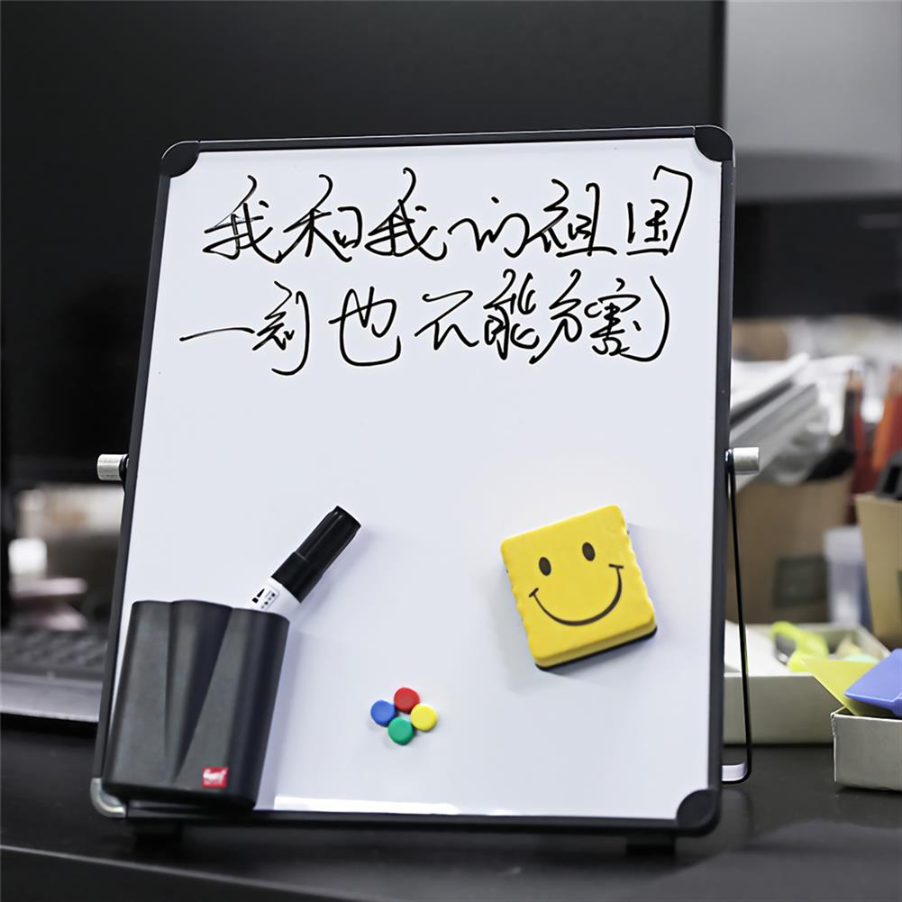 white-wipe-board White Wipe Board Single Sided Portable Small Whiteboard Planner Reminder with Stand School Home office Kids List Board Supplies HOB1740168 2 1