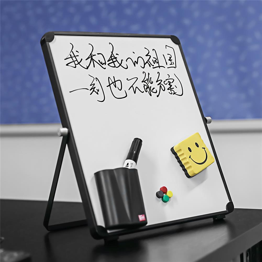 white-wipe-board White Wipe Board Single Sided Portable Small Whiteboard Planner Reminder with Stand School Home office Kids List Board Supplies HOB1740168 3 1