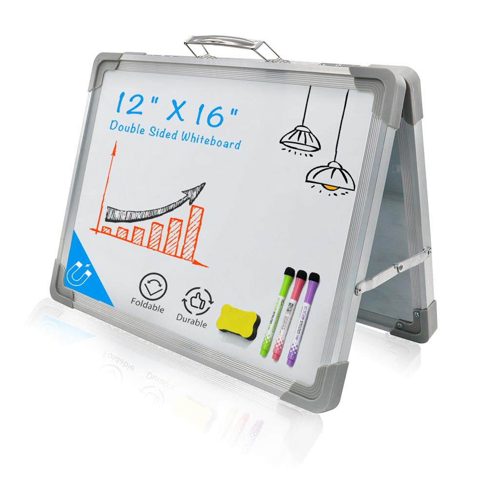 white-wipe-board Mini White Wipe Board Double Sided Whiteboard Planner Reminder with Stand School Home office Kid Drawing Board Supplies HOB1740175 1