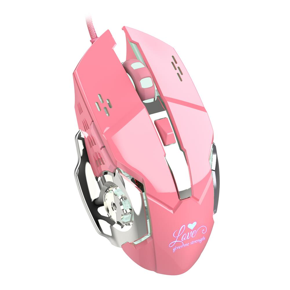 mouse-Hxsj X500 Wired USB 3200 DPI Optical Gaming Mouse 6 Programmable Buttons Computer Game Mice 4 Adjustable DPI LED Lights-HOB1740732 1 1