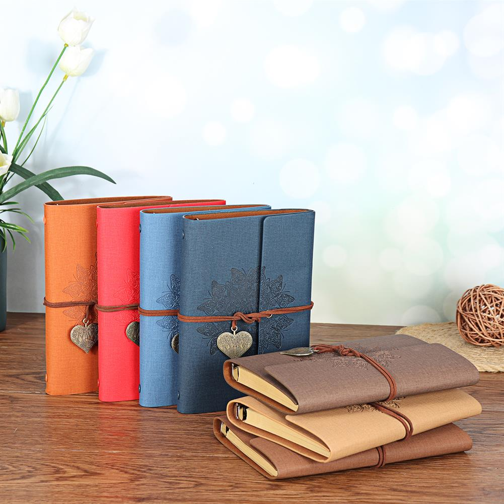 paper-notebooks 80 Sheets Creative Notebook Business Travel Notebook Retro PU Leather Notebook Stationery office Writing Supplies HOB1740841 1 1