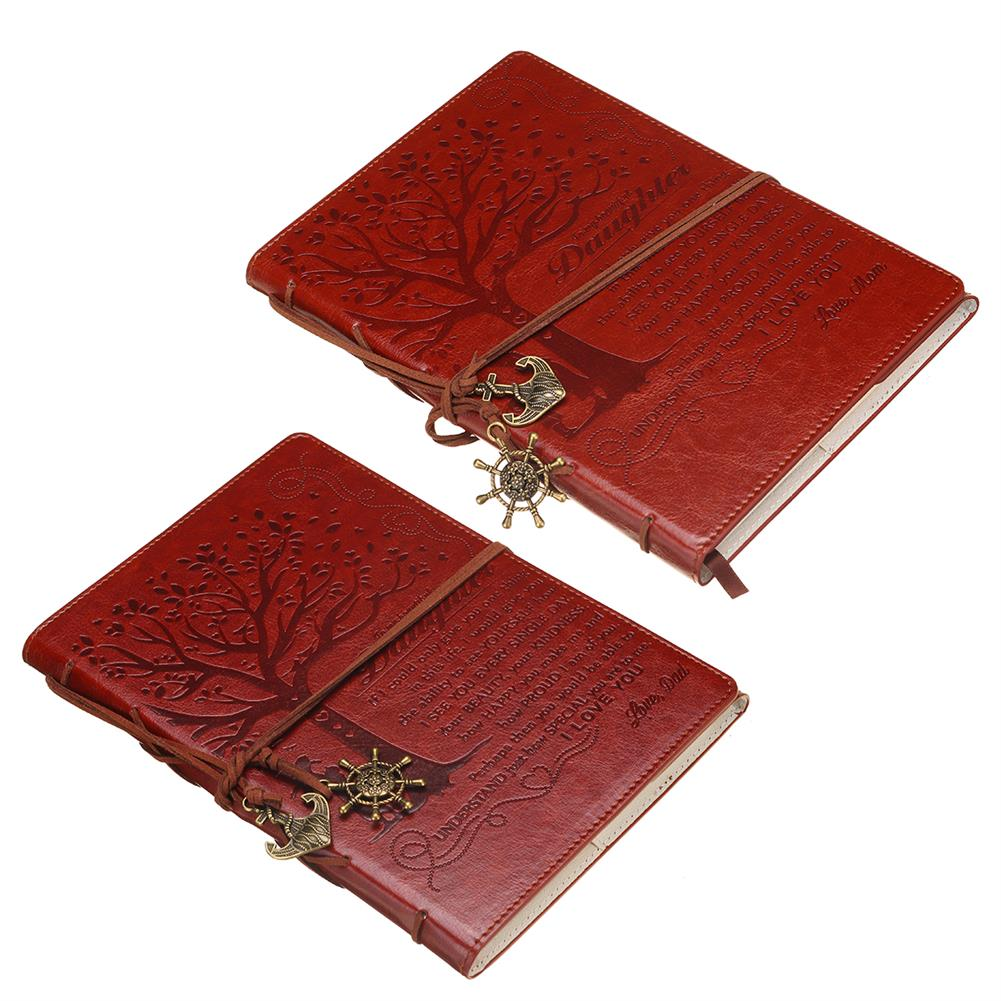 paper-notebooks Retro Leather Cover Notebook Blank Diary Pirate Design Paper Notebook Traveler Notepad Stationery Gifts Supplies HOB1741010 1 1