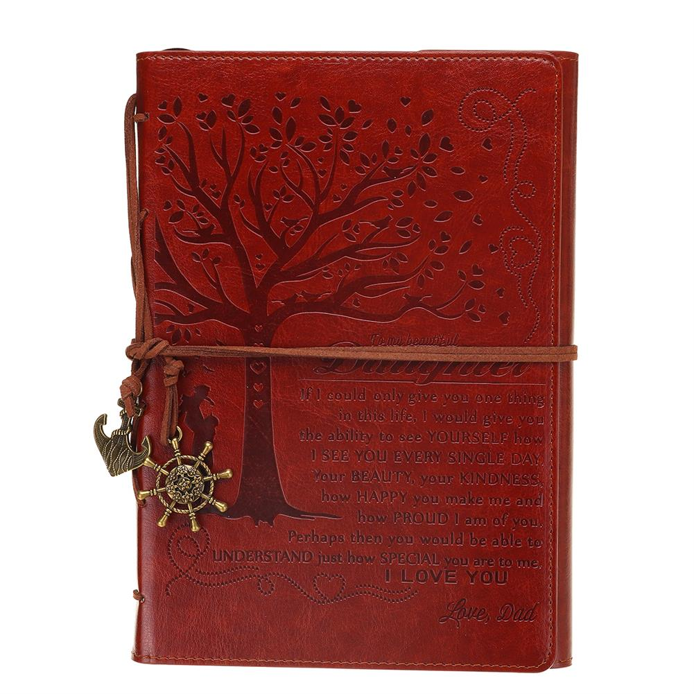 paper-notebooks Retro Leather Cover Notebook Blank Diary Pirate Design Paper Notebook Traveler Notepad Stationery Gifts Supplies HOB1741010 3 1