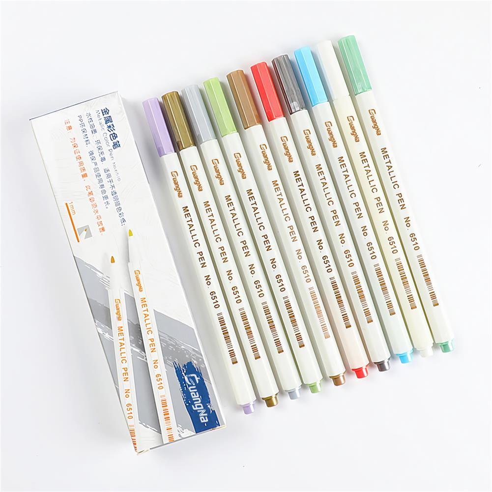 art-kit 10/12/20/30 Colors/Set DIY Photo Album Marker Pen Graffiti Acrylic Paint Highlighting Art Stationery Painting Supplies HOB1741155 1 1