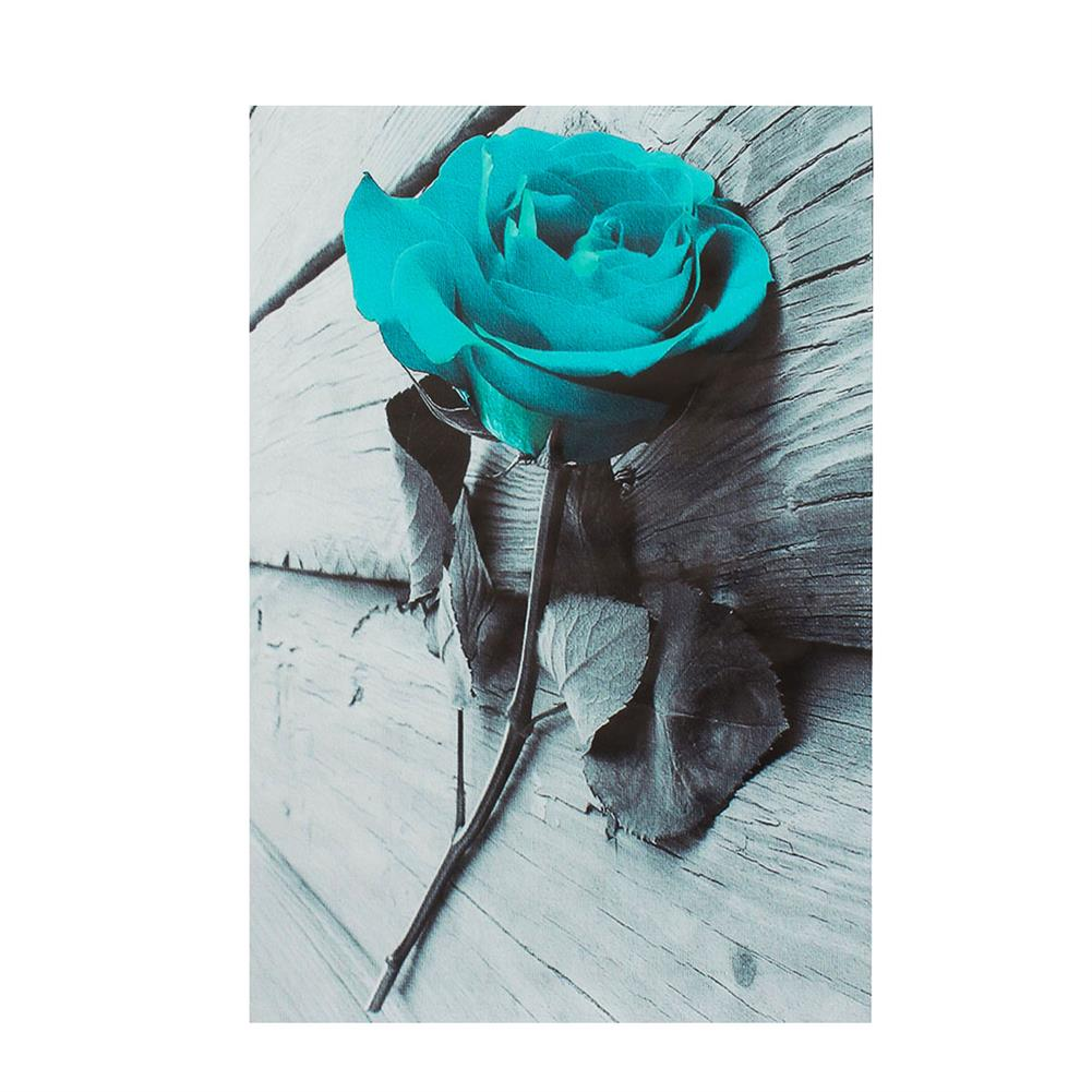 art-kit 1 Piece Blue Rose Canvas Print Paintings Wall Decorative Print Art Pictures Frameless Wall Hanging Decorations for Home office HOB1741163 1