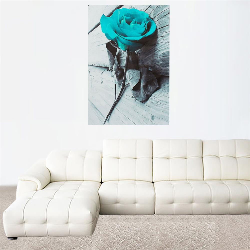 art-kit 1 Piece Blue Rose Canvas Print Paintings Wall Decorative Print Art Pictures Frameless Wall Hanging Decorations for Home office HOB1741163 1 1