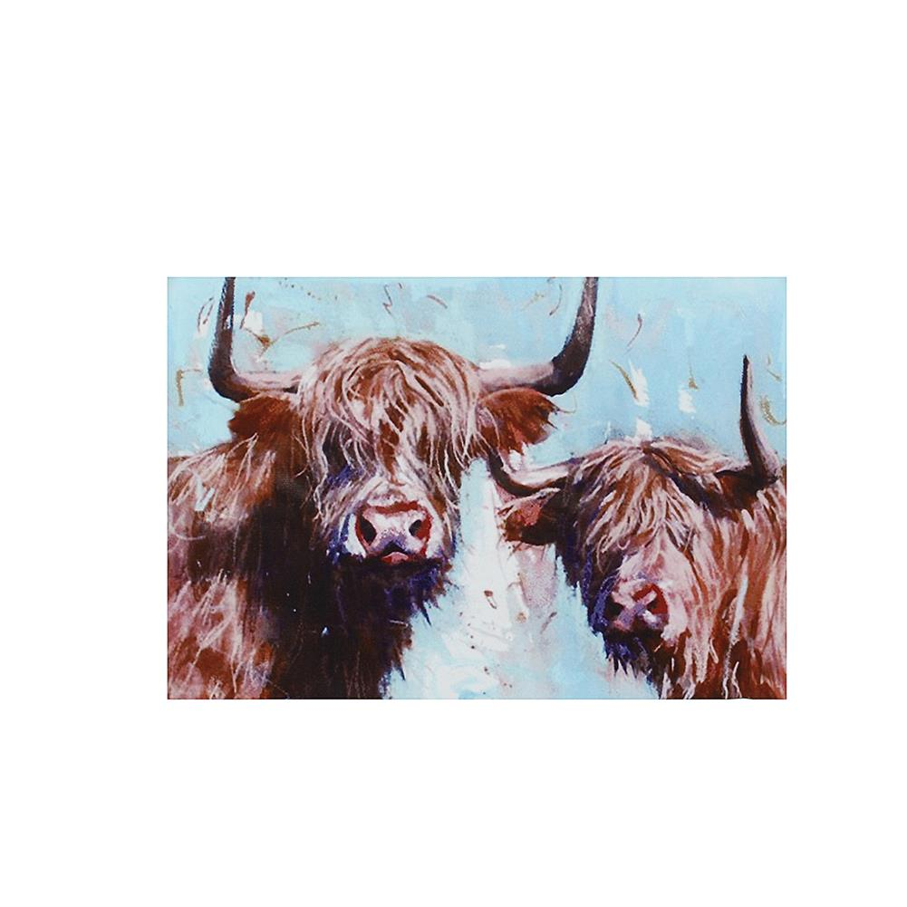 art-kit 1 Piece Highland Cow Canvas Print Painting Wall Decorative Print Art Pictures Frameless Wall Hanging Decorations for Home office HOB1741179 1