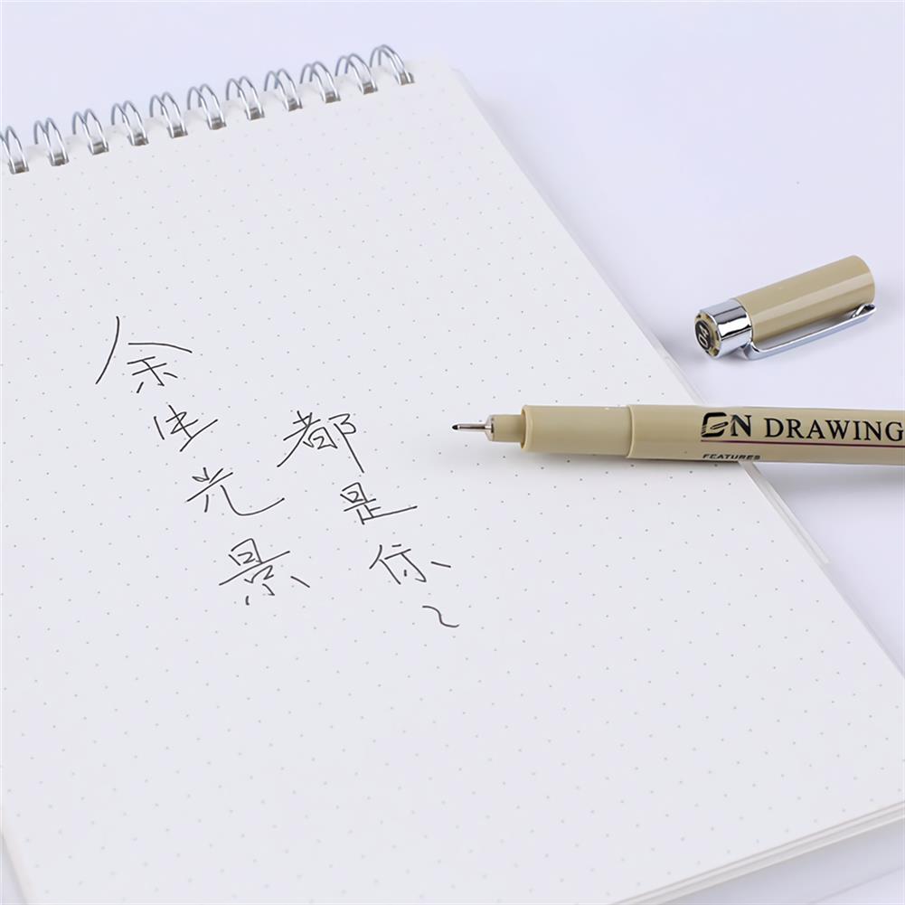 gel-pen 9pcs/set Guangna Hook Line Pen Set Micron Pen 005 01 02 03 04 05 08 Art Drawing Markers Stationery Students Supplie HOB1741205 3 1
