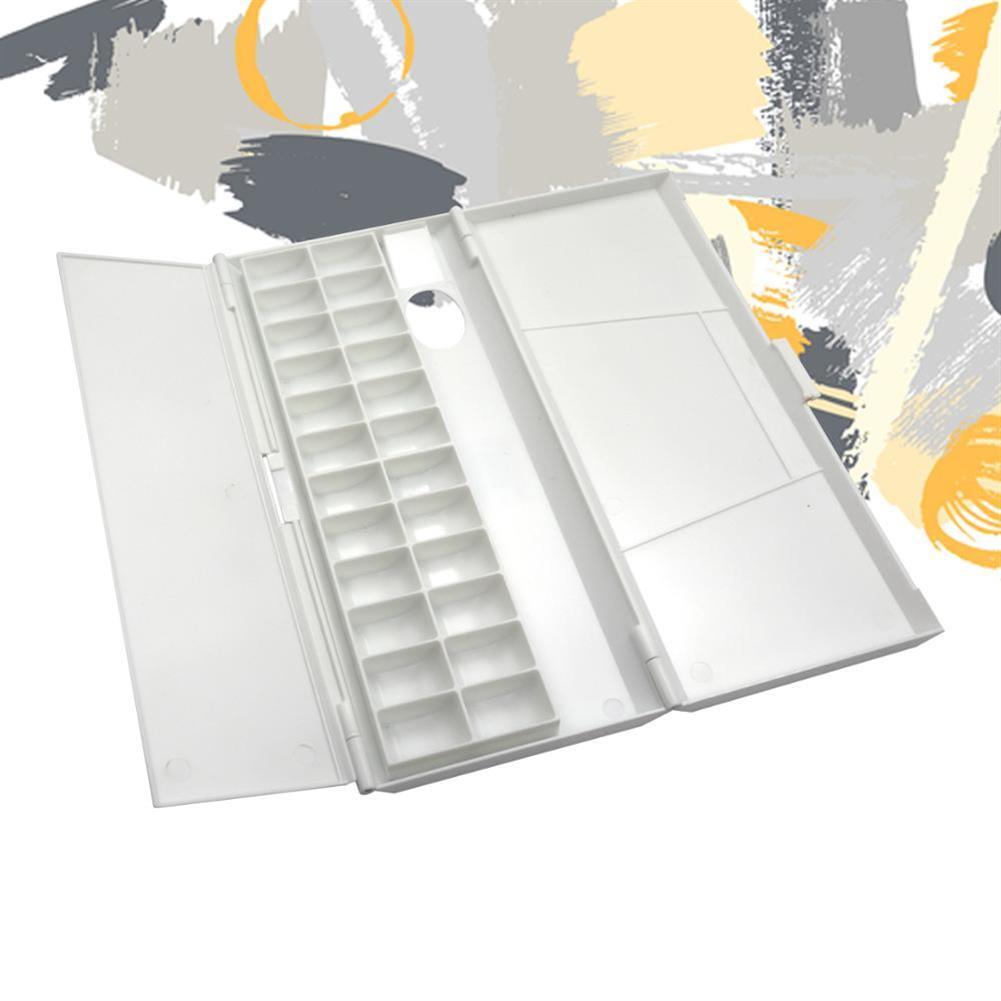 palette SeamiArt 24 Grid Folding Watercolor Palette Plastic Artist Watercolor Oil Painting Paint Palette Tray Box Stationery Art Supplies HOB1741310 1 1