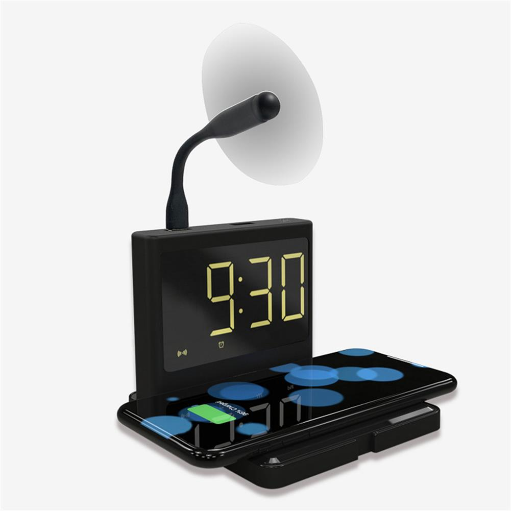 desktop-off-surface-shelves 15W Alarm Clock Night Light Multifunctional 3 in 1 Mobile Wireless Charging Creative Clock Fast Chargers Gift Supplies HOB1741411 1