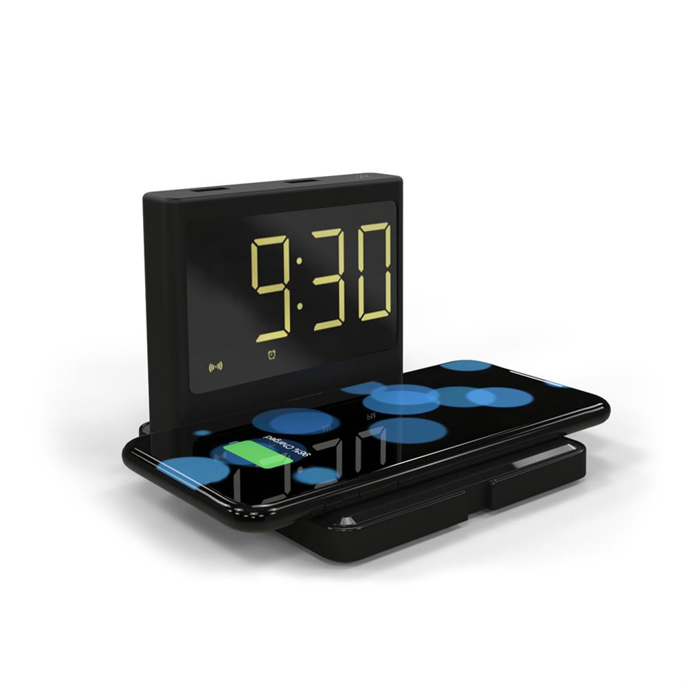 desktop-off-surface-shelves 15W Alarm Clock Night Light Multifunctional 3 in 1 Mobile Wireless Charging Creative Clock Fast Chargers Gift Supplies HOB1741411 1 1