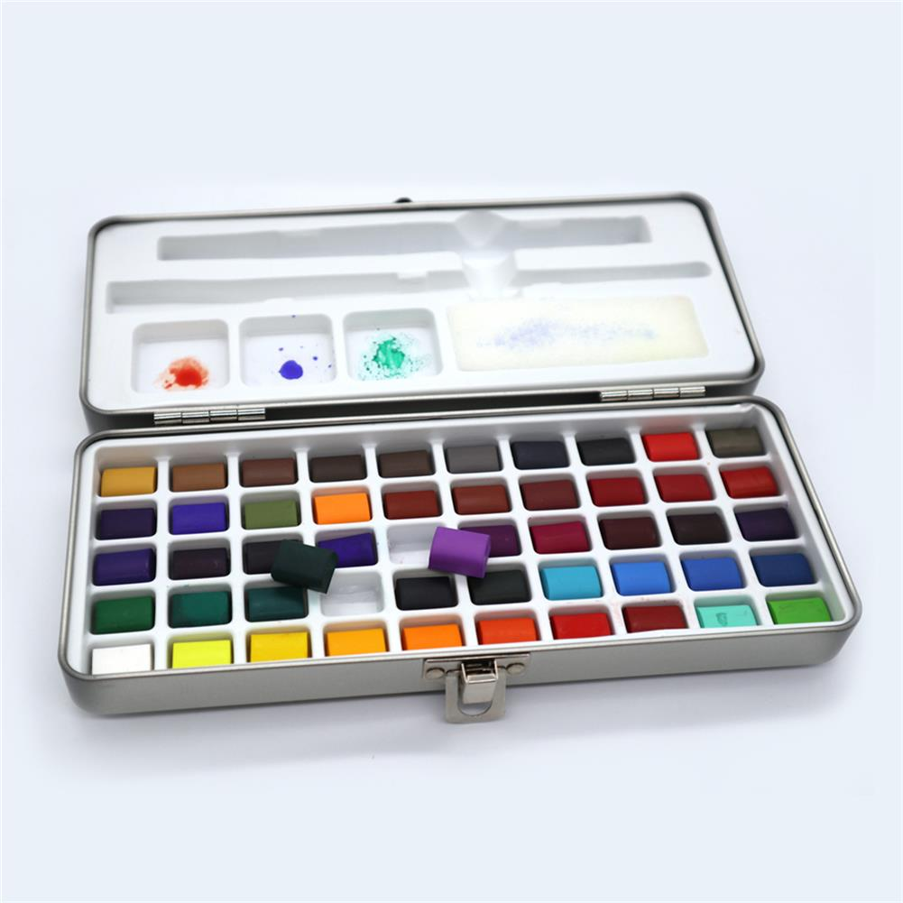 watercolor-paints SeamiArt 72/90 Colors Solid Watercolor Set Portable Watercolor Paint for Drawing Art Paint Stationery Painting Supplies HOB1741491 2 1