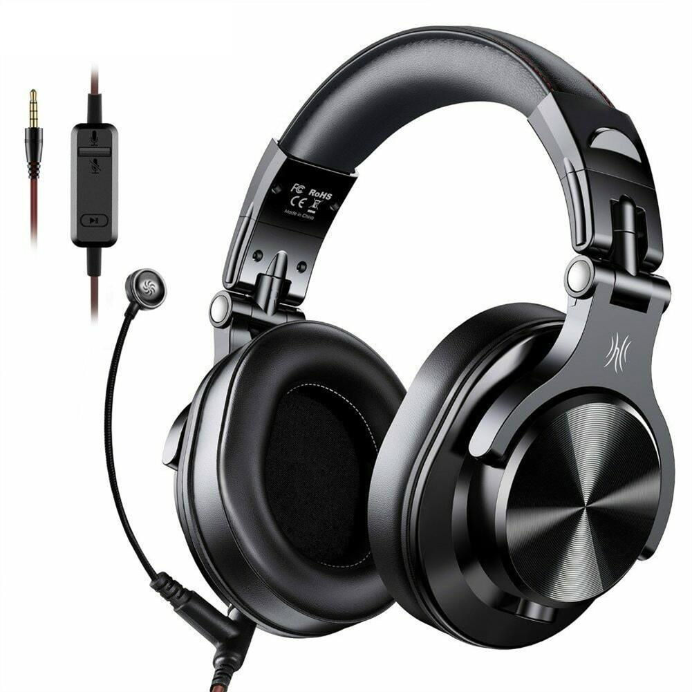 headphones oneOdio A71 Gaming Headset Over-Ear Stereo Headphone 3.5mm Wired with Pluggable Microphone Multifunctional Headset for Xbox/Phone Black HOB1741847 1