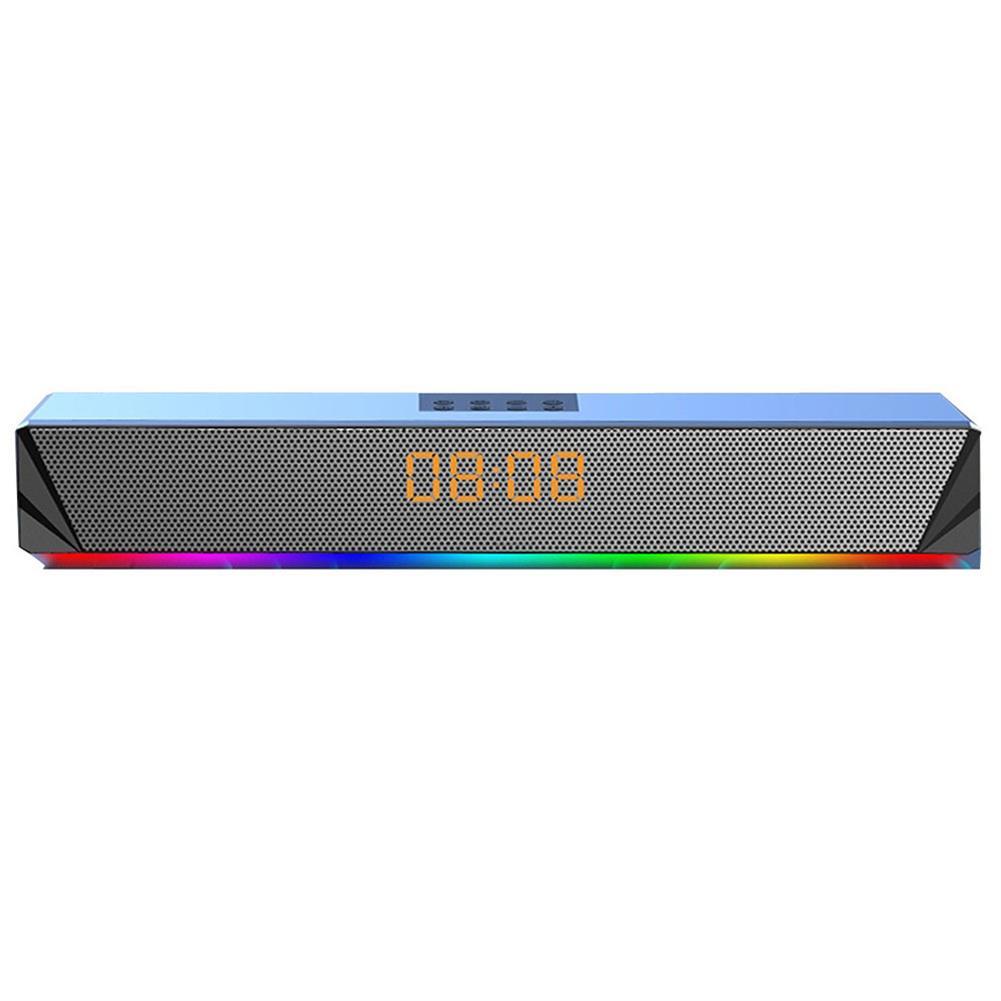 computer-speakers Langjing A8 Computer Speaker RGB Light Effect bluetooth USB Recharging Clock Display AUX U Disk TF Card input Stereo Speaker System HOB1742254 1