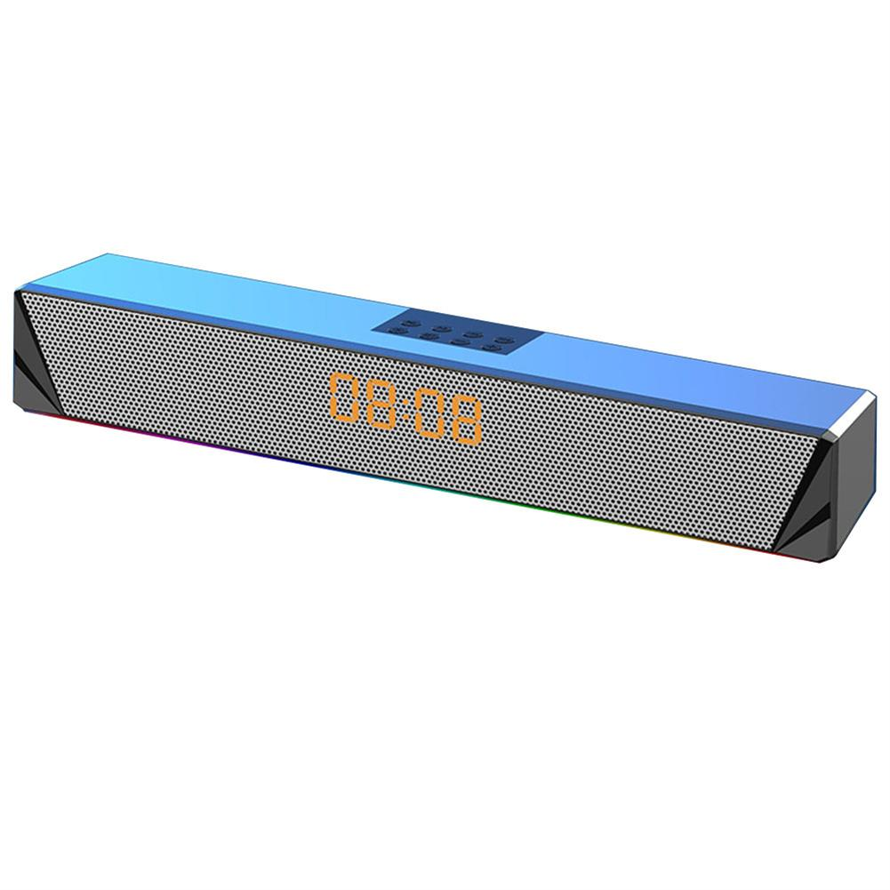 computer-speakers Langjing A8 Computer Speaker RGB Light Effect bluetooth USB Recharging Clock Display AUX U Disk TF Card input Stereo Speaker System HOB1742254 1 1