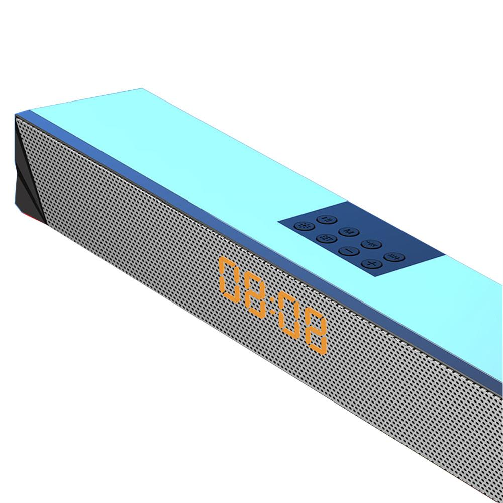 computer-speakers Langjing A8 Computer Speaker RGB Light Effect bluetooth USB Recharging Clock Display AUX U Disk TF Card input Stereo Speaker System HOB1742254 2 1