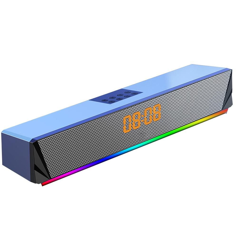 computer-speakers Langjing A8 Computer Speaker RGB Light Effect bluetooth USB Recharging Clock Display AUX U Disk TF Card input Stereo Speaker System HOB1742254 3 1