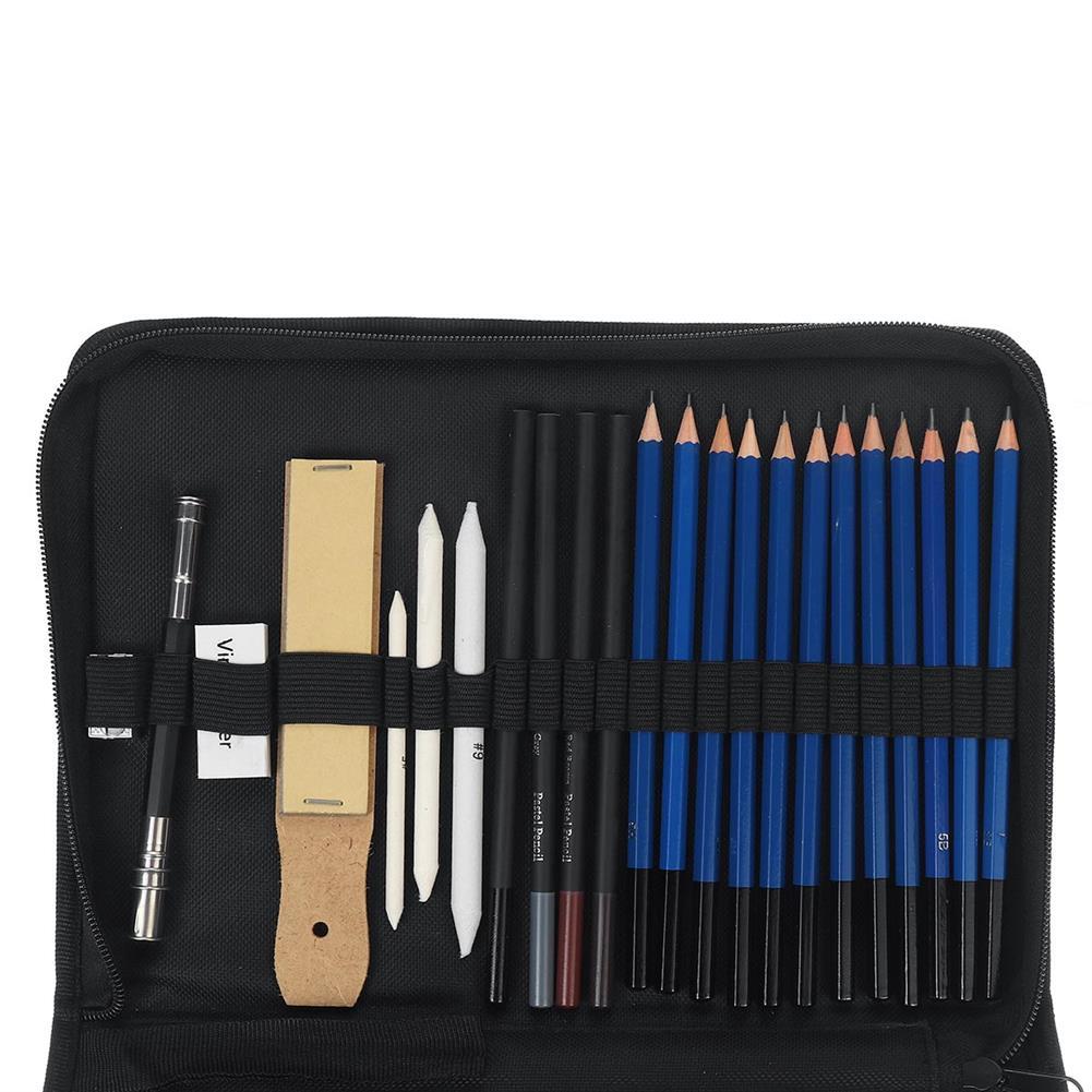 art-kit 72Pcs Professional Drawing Sketching Pencil Set Charcoal Pencil Art Painting Draw Kit HOB1742771 2 1