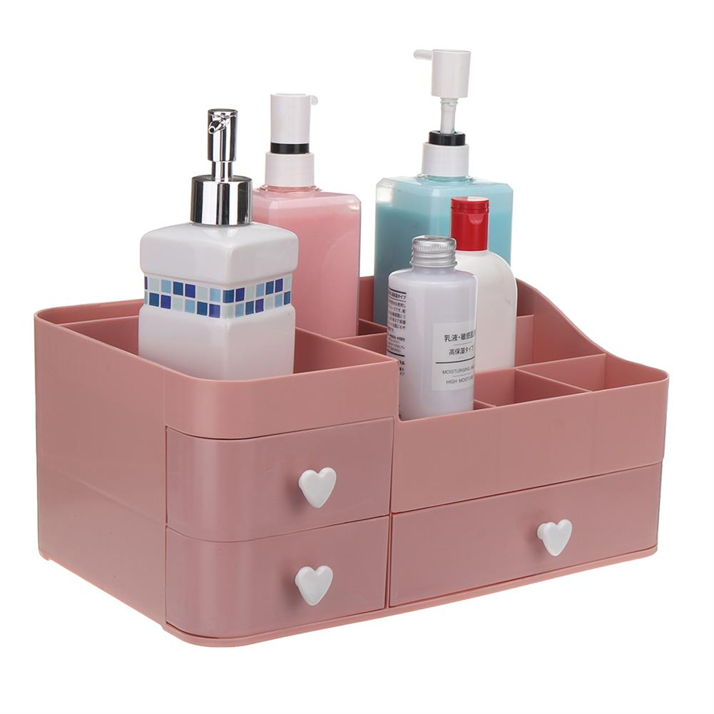 desktop-off-surface-shelves 34x22x15cm Plastic Cosmetic Organizer Makeup Case Holder Drawers Jewelry Storage Home Desk Storage Supplies HOB1743332 1